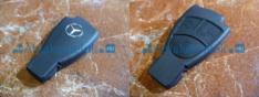 Mercedes 3 gombos kulcsház, kulcstok